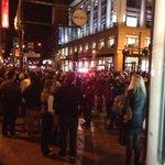 5th and market everyone was just ordered onto sidewalk #ShutItDown #SF #Ferguson http://t.co/Tobn93t6lj