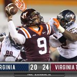 Its final in Blacksburg. VT tops UVa, 24-20. UVa finishes the season 5-7. Big thank you to all our seniors. http://t.co/zR1OktEFeg