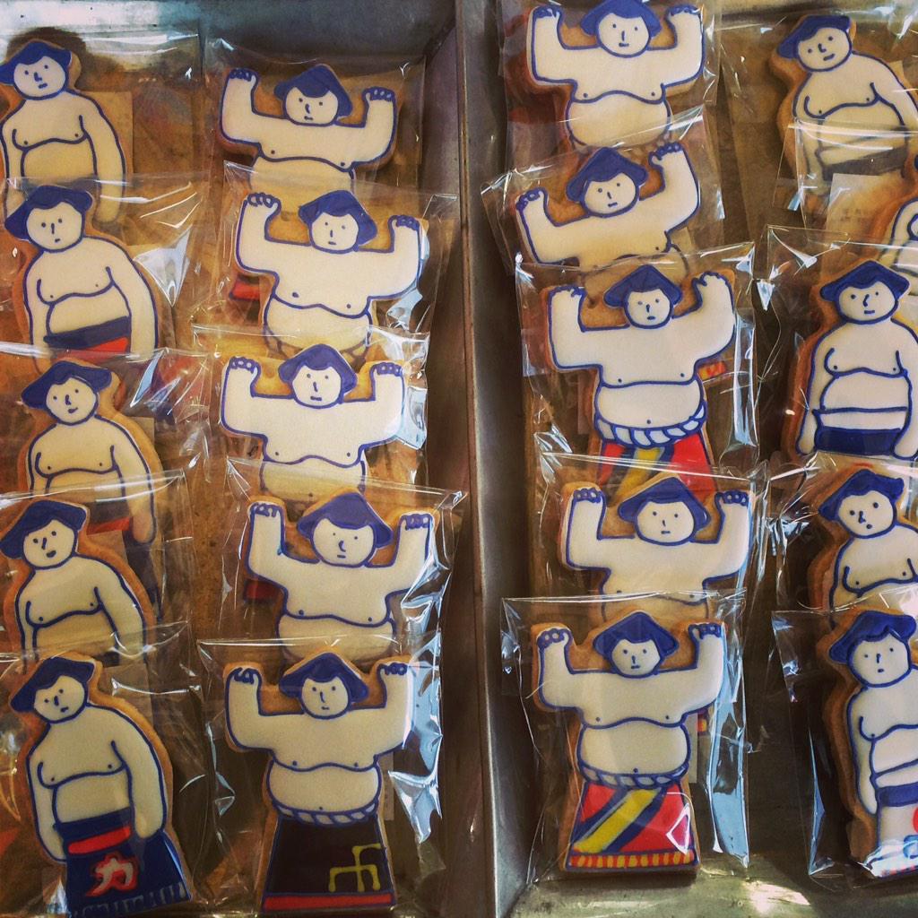 おすもうさんのアイシングクッキー大大人気でした! http://t.co/c4xVczZGTI