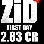 RT @Speed_Records: Congratulations @anubhavsinha @shiekhspear and the entire team of @zidthefilm for the 1st day opening of 2.83 Crores htt…