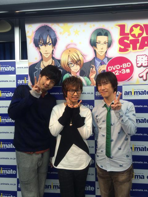 『LOVE STAGE!!』2巻、3巻発売記念イベントが終わった後に江口くん、平川さんと一緒に写真を撮っていただきました