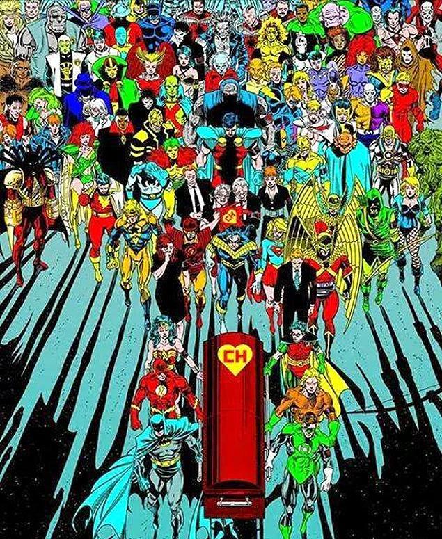 Super-heróis da DC Comics carregam caixão de Chapolin em homenagem nas redes sociais http://t.co/m2Q8jVO1hE http://t.co/GDX8aRZdBY