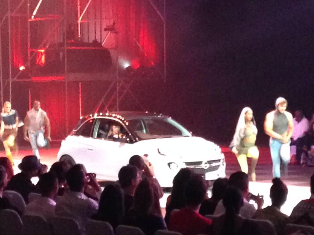 Not sure if it's ever been relevant at a fashion show, but ladies and gentlemen start your engines! #LISOF #OpelAdam http://t.co/yDGoaUtG7I