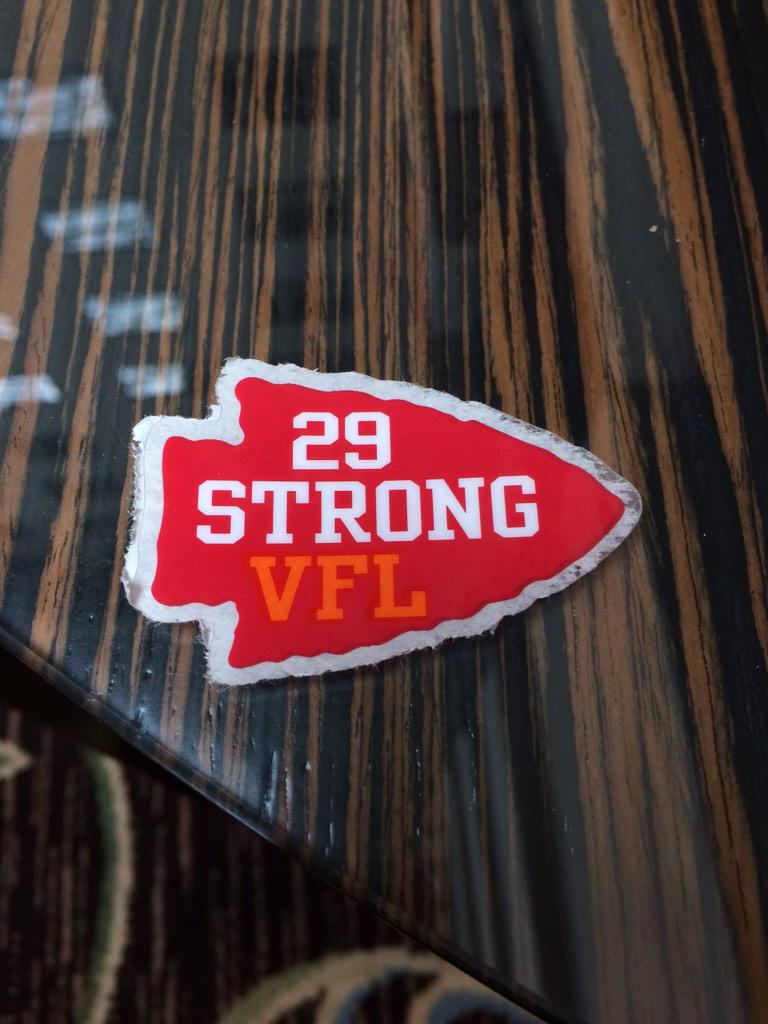 Addition to our helmets today for @Stuntman1429! #BerryStrong #VFL http://t.co/RqUOYBTUPN