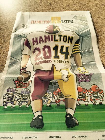 .@TheSpec has a great cover for a dream weekend of #HamOnt football. http://t.co/09CBlCzpd0