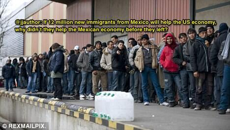 If 12 million illegals will help the US economy, why didn't they help the Mexican economy before they left? http://t.co/QRfoT7mox1 #tcot