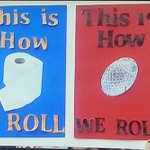 This is how #Auburn rolls... This is how #Bama rolls.  #RollTide #IronBowlGameDaySigns  #GameDaySigns http://t.co/HELbh9dtdU