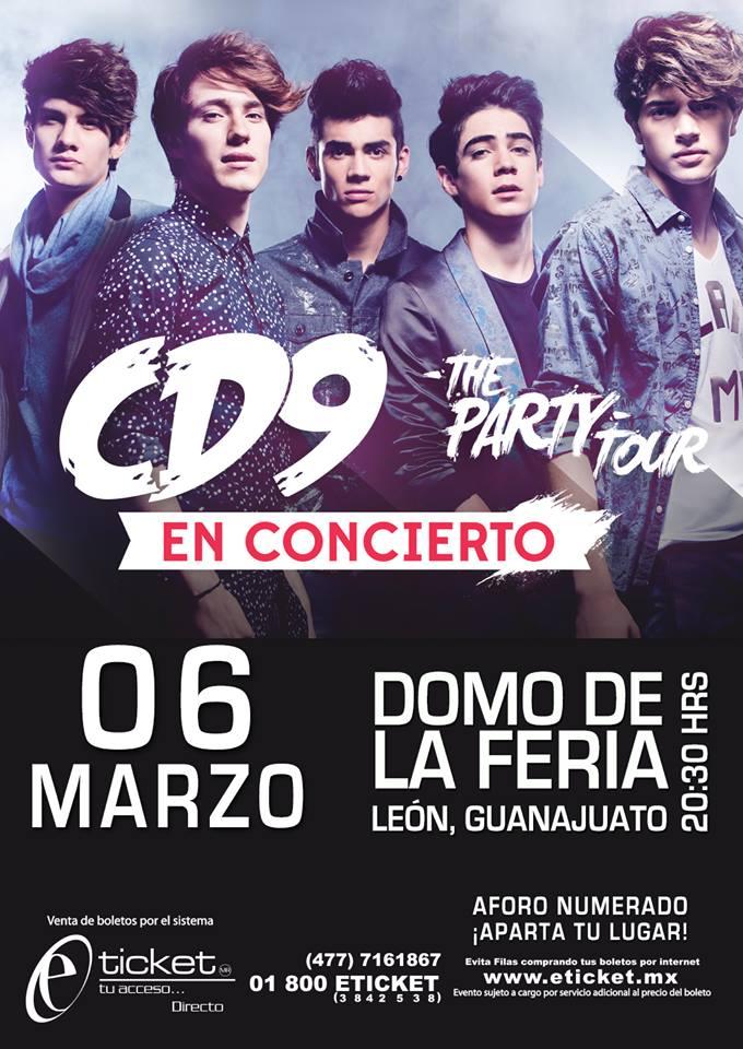 El 4/Dic a las 11:00 am arranca la venta de boletos para el concierto que @somosCD9  dará el 6/Marzo en #Leon #Gto http://t.co/WxthMnf8FQ