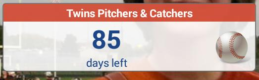 #springtraining #countdown @Twins http://t.co/PVmr94ZFig