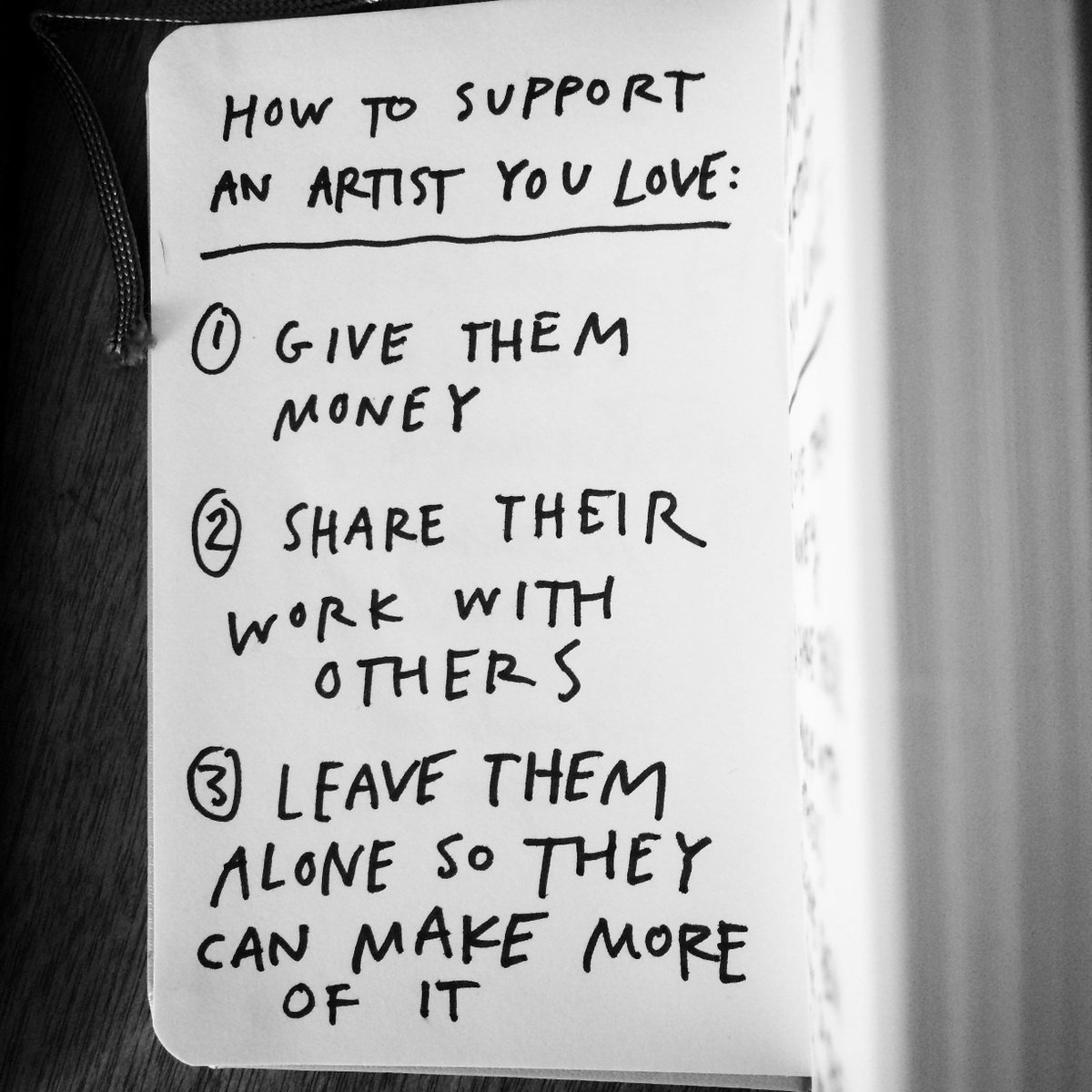 How to support an artist you love: http://t.co/DSVpIvjZys