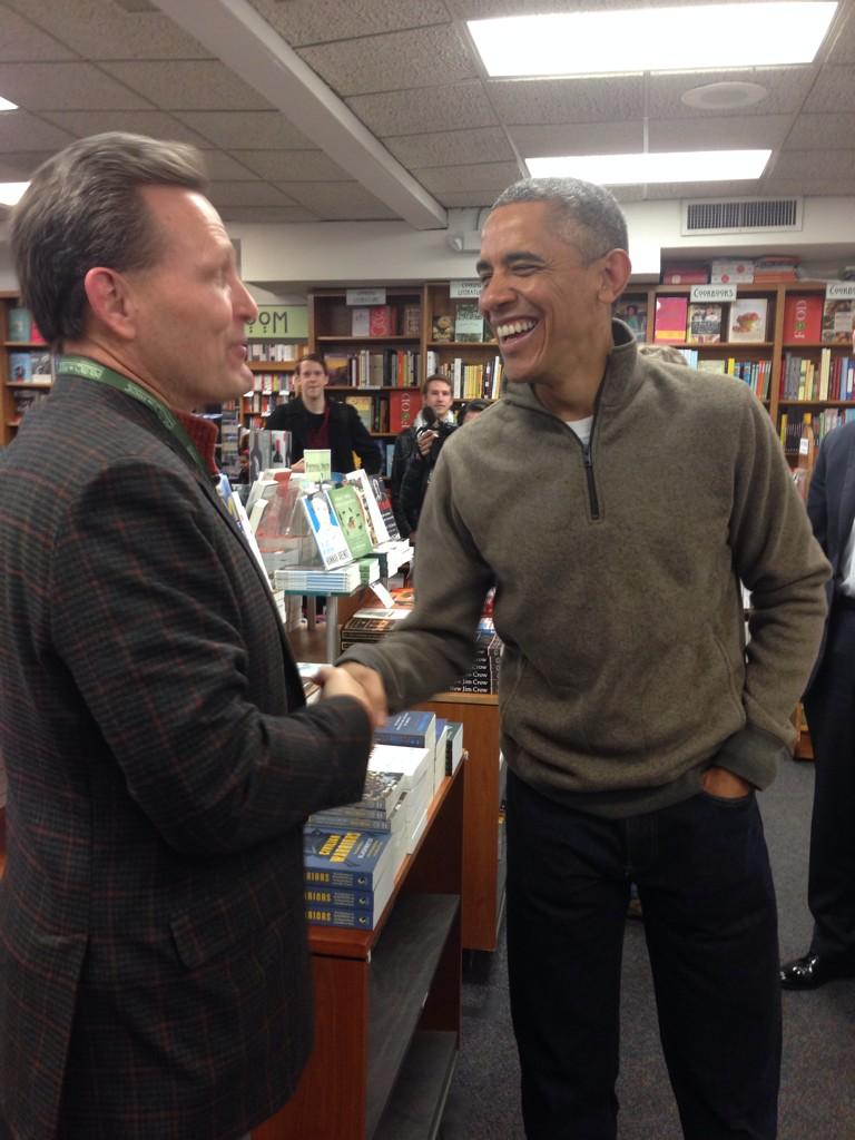 What a terrific day selling books at @Politics_Prose. You never know who might turn up! @GrandCentralPub @Scholastic http://t.co/ijy79mOCDC