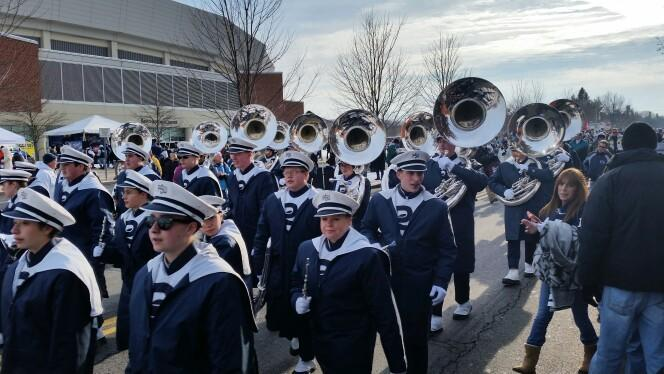 One more @PSUBlueBand parade for 2014. #ThanksDrBundy http://t.co/MY5iSHzgbA