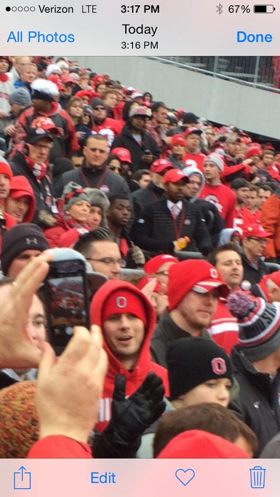 JT Barrett is sitting in the stands watching the rest of the game http://t.co/SNsSXt4j1e