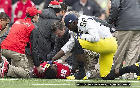 Sportsmanship means different things to Michigan and Ohio State. http://t.co/XpY4z6HOyU