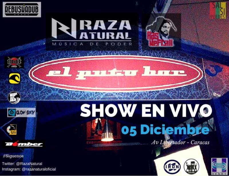Gente de #Caracas Activos este Viernes 5 de Diciembre estaremos en vivo #FullBanda en @elputobar con @RasNeftali http://t.co/iEyz4hoHPp