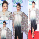 RT @TheVioletStreet: .@LakshmiManchu in a @KhannaAnamika #dress looked lovely. A printed cape completed the look! At #MemuSaitam event. htt…