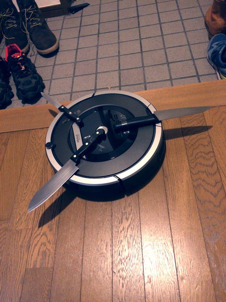 我が家に殺人ロボットがやってきました。皆さん本当にありがとうございます、今後ともよろしくお願いします。 http://t.co/87Vt9pna9R