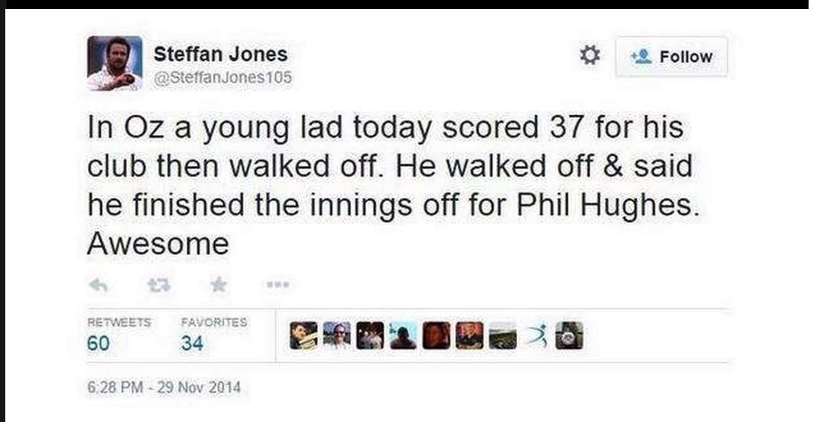 WOW! This is just CLASS #PhilHughes http://t.co/8zwD1XuVTn
