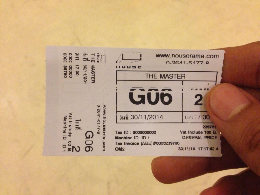 จบแล้ว The Master สนุก มีอารมณ์ขัน ภาพประกอบถ่ายสวยมาก ไม่รู้จักร้านแว่นก็ดูได้ เพราะมันพูดถึงอุตสาหกรรมหนังไทย http://t.co/ezLVnpKKvQ