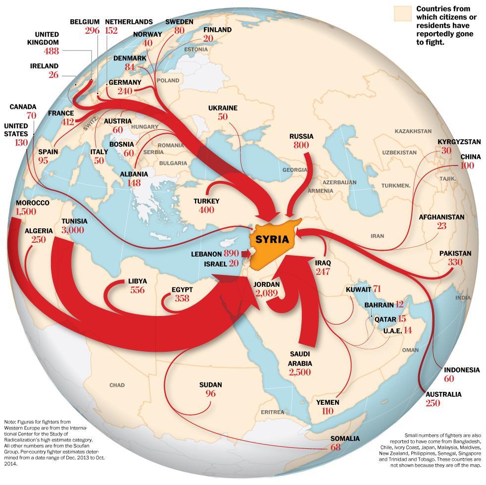 RT @mikelayestaran: Hoy a las 22.30 @_anapastor_ dedica @ObjetivoLaSexta a lucha contra #ISIS Así es el mapa de la yihad @washingtonpost http://t.co/TDHs581lzP