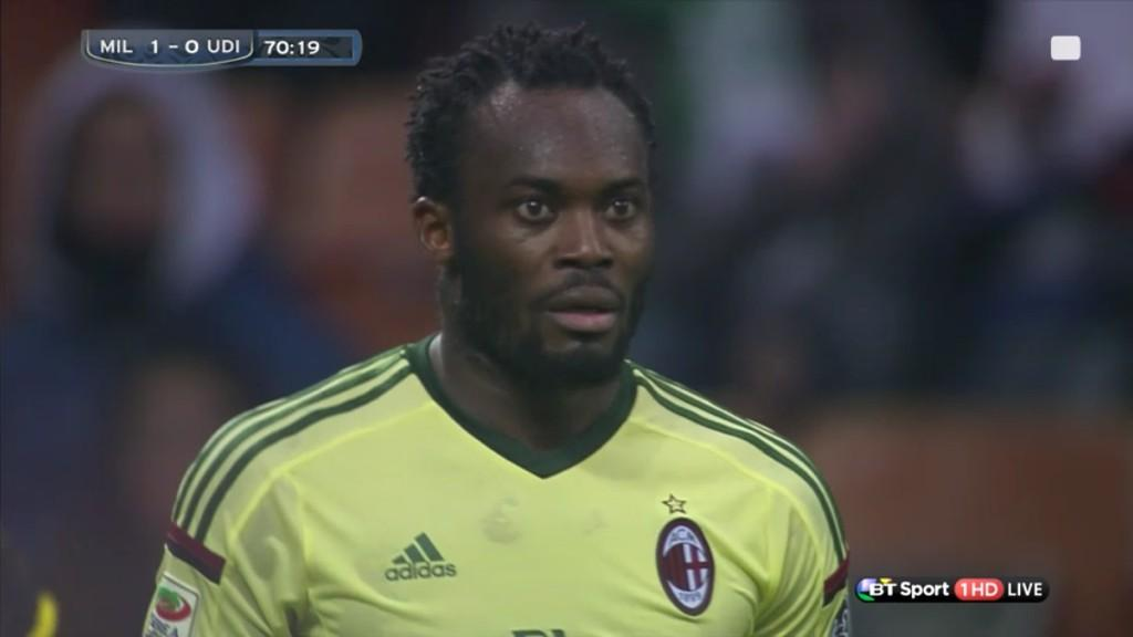 B3sxrK5IUAAcGQY Michael Essiens epic reaction to sending off during AC Milan v Udinese [video]