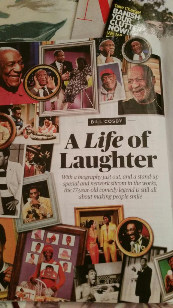 """Oops. This month's AARP magazine celebrates """"Bill Cosby, A Life of Laughter"""" #Cosby http://t.co/vApIvJXtDC"""