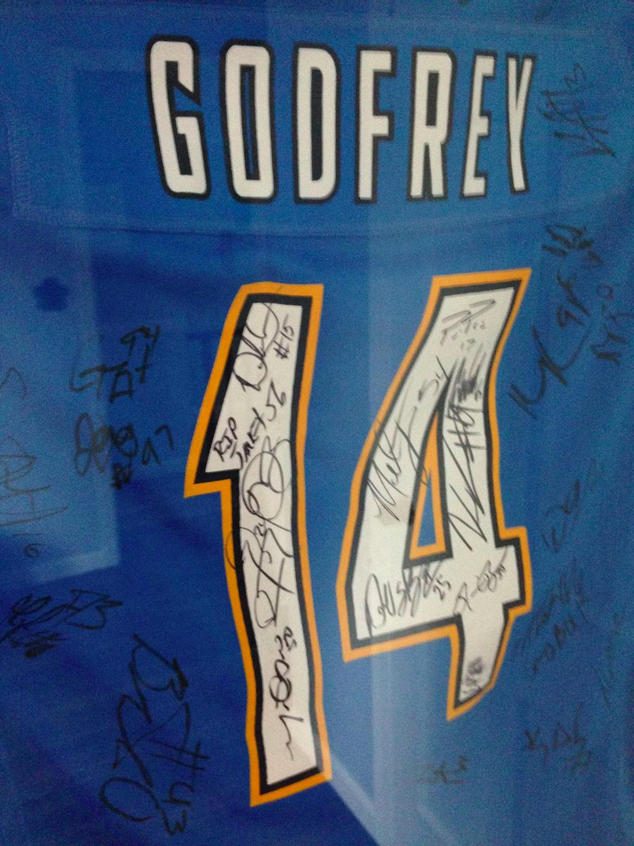 My late son's fraternity brothers got the @Chargers to sign this in his honor. So awesome. And yes, SD won late today http://t.co/xwggK9GGmx