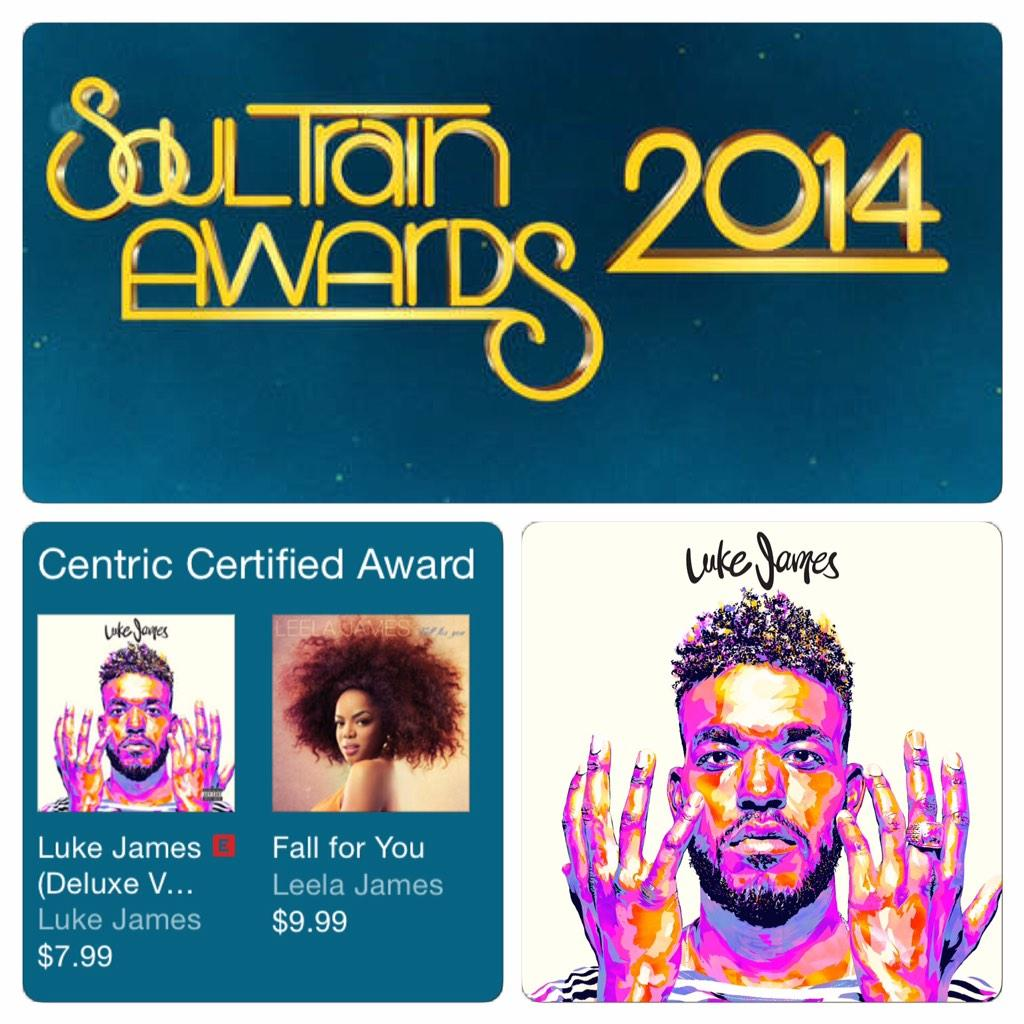 #SoulTrainAwards nominee @whoisLukejames featured on @iTunesMusic! Tune in tonight at 8p/7c on @CENTRICTV. http://t.co/xIX5bo9Pc2