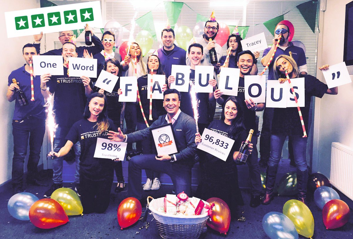 @Trustpilot Celebrating our #HighFlyers nomination from #Trustpilot with our favourite review! #onewordfabulous http://t.co/3hzCfls1fC