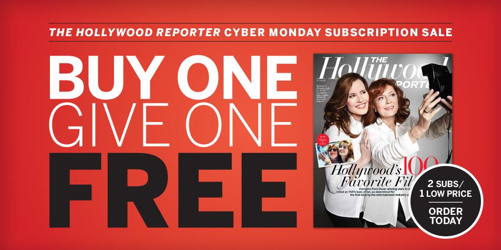 FLASH SALE: Buy a $69 subscription to The Hollywood Reporter & get one free!