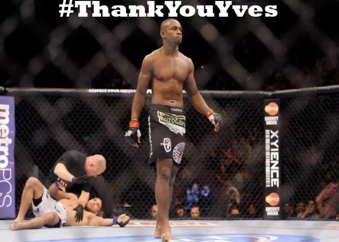 #ThankYouYves A true pioneer & legend of the sport! All of your hard work will inspire the future of this sport. @ufc http://t.co/V3qRzzfwkA
