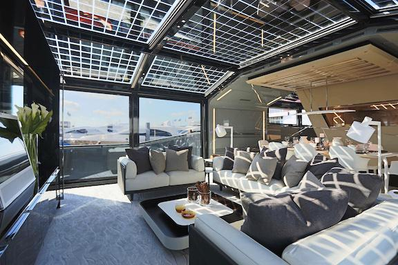 A salon's-eye view of the Arcadia 85! #yacht #yachts http://t.co/kXKeLtK5Ea