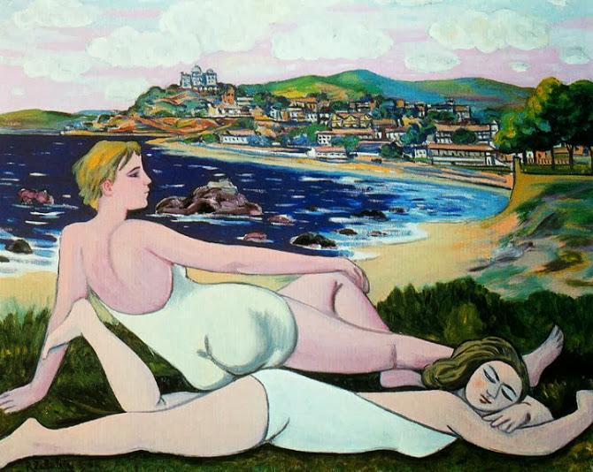 En la playa de Santander - R. Zabaleta http://t.co/5oQlFNxtOr
