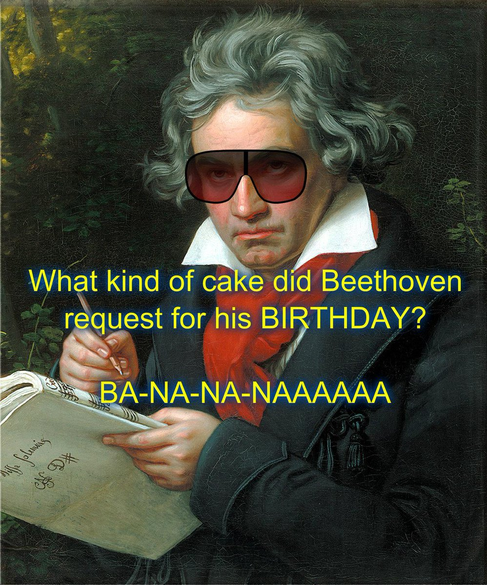 Happy Birthday, #Beethoven! We're absolutely BANANAS for you! #musicjokes http://t.co/zY5durtRUv