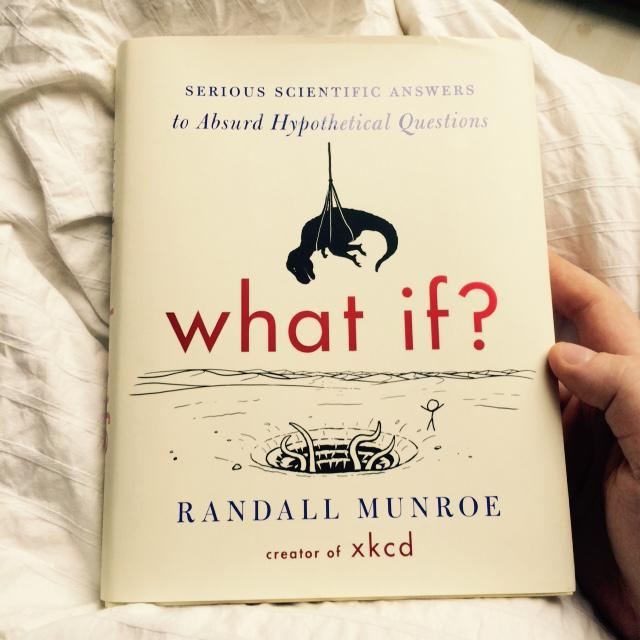 "If you are looking for a nerdy present, ""what if?"" by xkcd pretty ..."