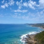 View along the Great Ocean road. It is genuinely beautiful. http://t.co/W0j2dqIdYz