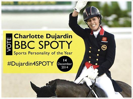 Vote for @CSJDujardin to win tonight - @BBCSPOTY 2014!!! RT to show your support! http://t.co/z8vI8t5lSv   #LRBHT http://t.co/yQ6FcFuWPL
