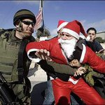 So #Santa was kidnapped by #off on his way to deliver presents to kids of #Palestine. #bds #Jerusalem http://t.co/pnxByx9gOp