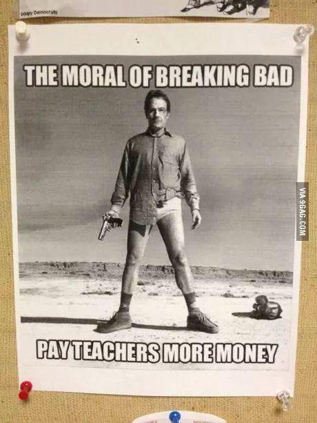 The moral of Breaking Bad. http://t.co/zzCjSTziK2