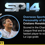 The winner of the Overseas Award for #SPOTY for 2014 is @Cristiano http://t.co/WqZSLB0lNz #SPOTY http://t.co/2Is5WE7HNC