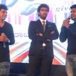 Kannada superstar siblings #Puneeth Rajkumar #Shivarajkumar at audio launch of #Siddartha with #Vinay Rajkumar http://t.co/eH1dqlO8p2