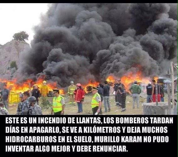 Mire @epn y @MurilloKaram sto es un incendio d llantas…  #QueSeVayanTodos #YaMeCansé5 http://t.co/LxtgRsm1mR