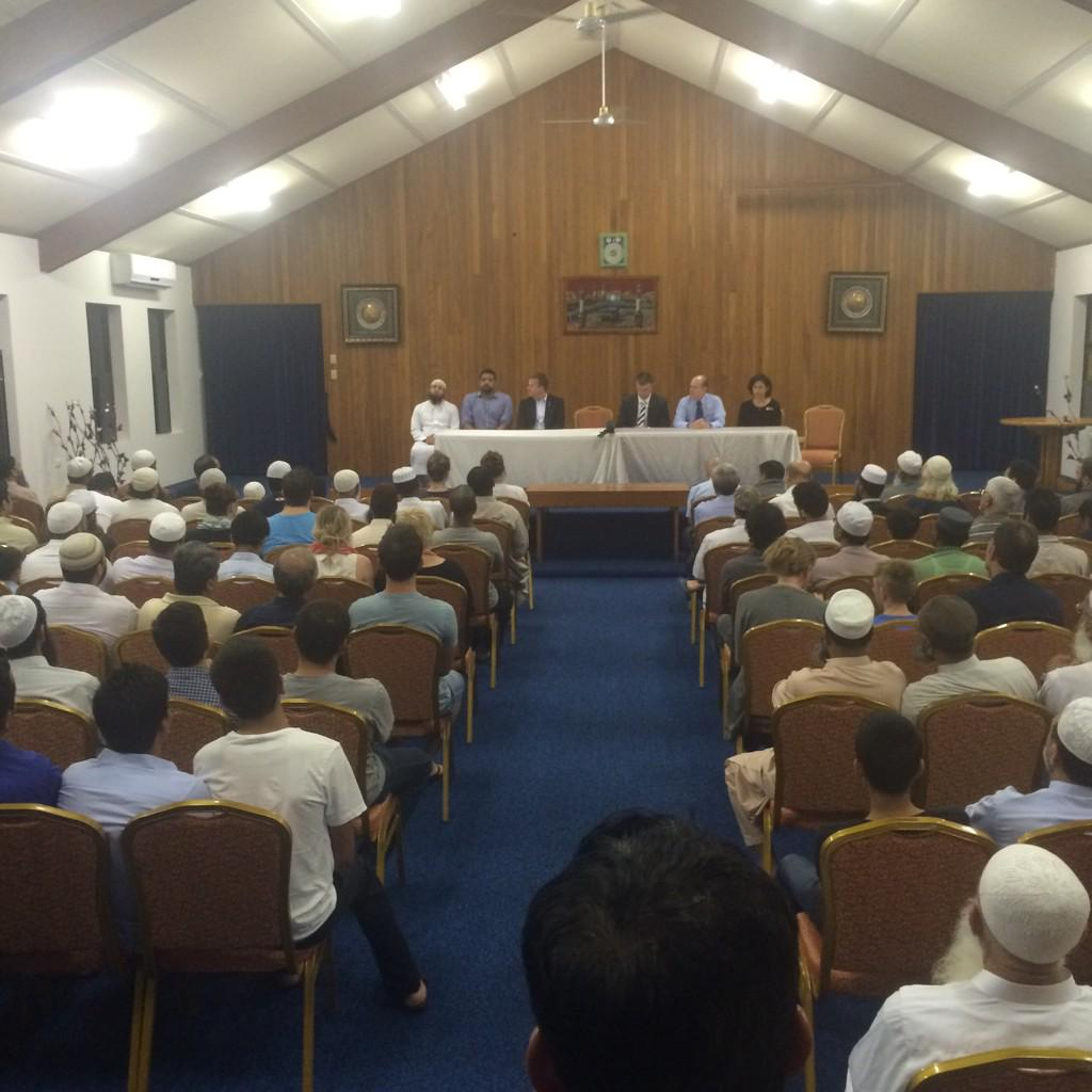 Young families, elderly residents, politicians, police and local Muslim leaders unite in Brisbane. #9NEWS http://t.co/g9ylLrEq25
