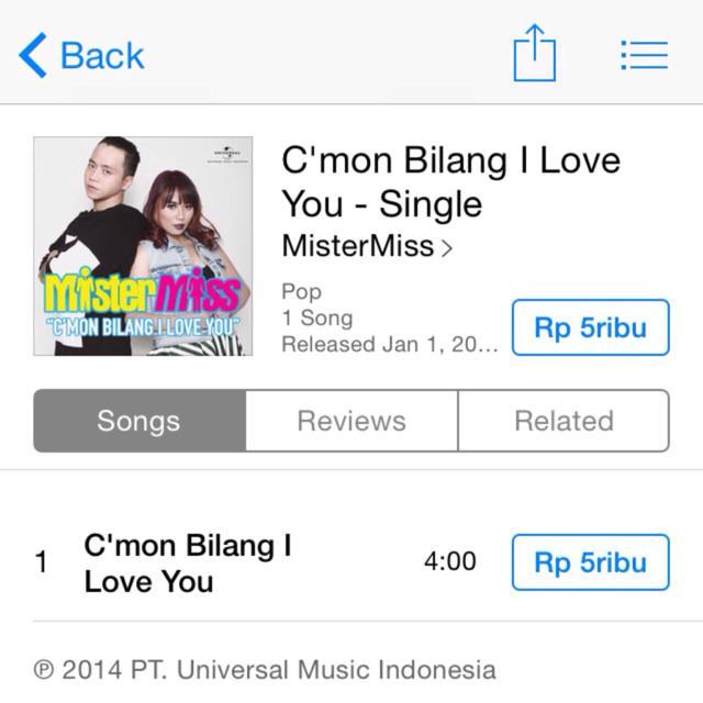 Brand new MisterMiss single on Itunes! C'mon Bilang I Love You - Single by #MisterMiss https://t.co/eQLAwb0zum http://t.co/g8rRr3PaTQ
