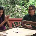 RT @PriyaManiWeb: [Unseen] #FunTime  @priyamani6, @UrsJayaramActor n others on the sets of #NVA playing Carrom:) http://t.co/zlZubjQNS5