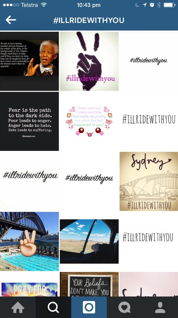 For those of you not on Instagram, #illridewithyou is happening there too. http://t.co/fsPMsM9Crg
