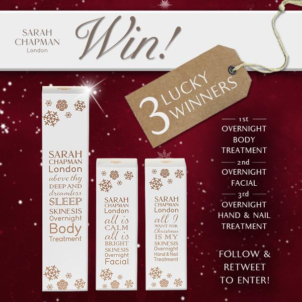 #COMPETITION! 3 lucky entrants will #WIN festive Sarah Chapman products! #RT + #FOLLOW to enter! Good luck! http://t.co/fFPfPIQLFG