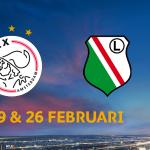 #Ajax speelt 19-2 thuis tegen #Legia (21:05 uur). Return is 26-2 (19:00 uur). Info: http://t.co/SHYakK2QZy #UELdraw http://t.co/8pNpJ8L8j0