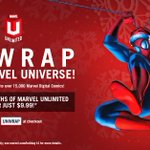 2 months of #MarvelUnlimited for the price of 1! (New or canceled subscribers only) Promo code: UNWRAP