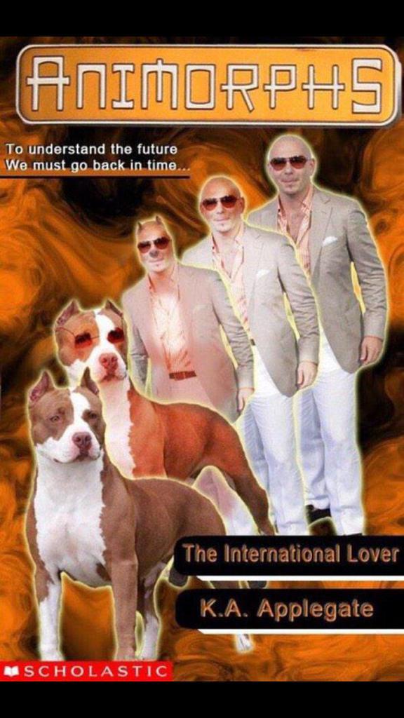 Who did this?? LMAO. #Pitbull #Dale #InternationalLove #Animorphs #WellPlayed http://t.co/f4pLjtMug3